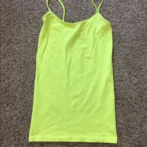 Neon green / yellow cami camisole